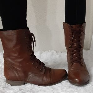 STEVE MADDEN LACED ANKLE BOOTS SIZE8.5M